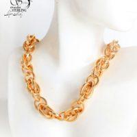 گردنبند زنانه حلقه دار کلفت برند ژوپینگ کد:2980