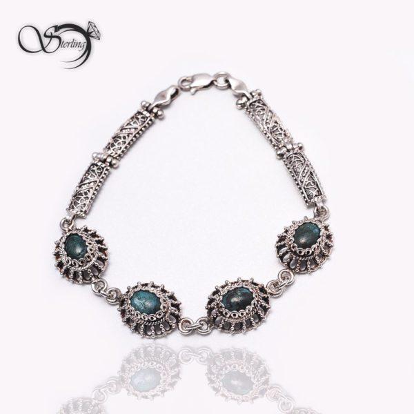 دستبند نقره زنانه فیروزه کد:۱۳۶۸