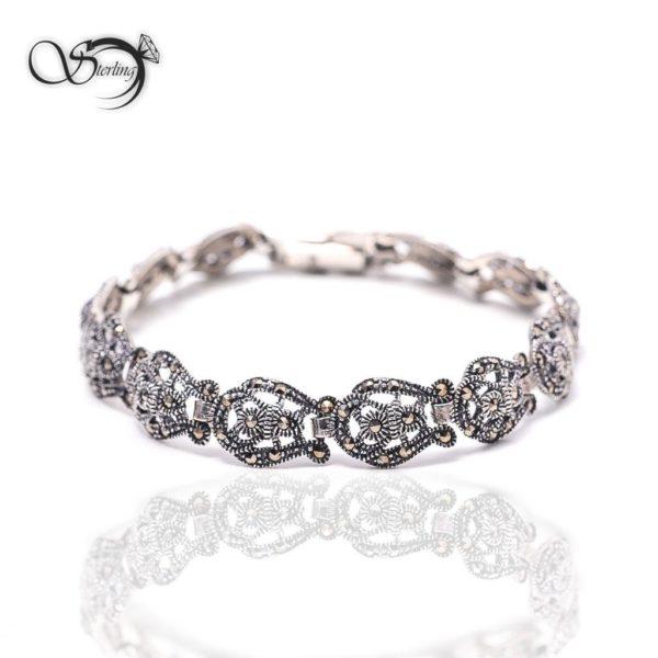 دستبند نقره هانگ زنانه کد:۱۳۷۰