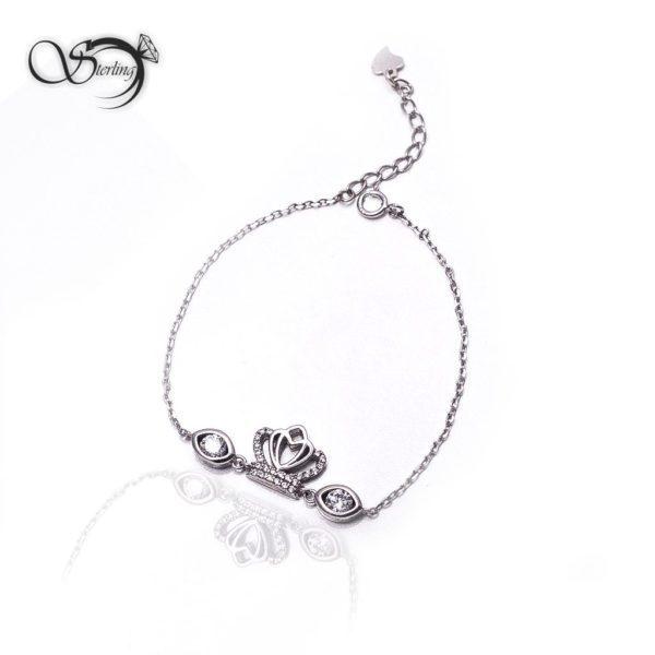 دستبند نقره تاج زنانه کد:۱۳۷۱