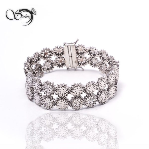 دستبند نقره تراش زنانه کد:۱۴۰۴