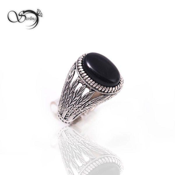 انگشتر نقره مردانه خوشه ای کد:۱۴۴۲