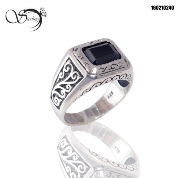 انگشتر اونیکس نقره مردانه کد:۱۵۷۹
