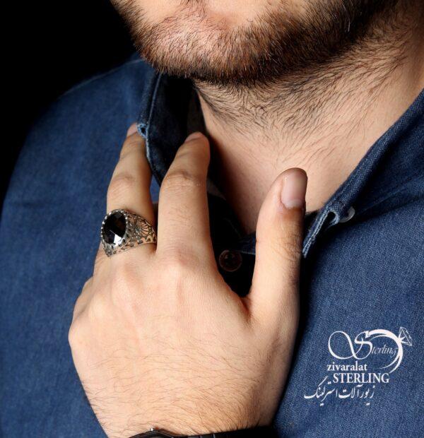 انگشتر نقره مردانه شیر کد:۱۴۴۳
