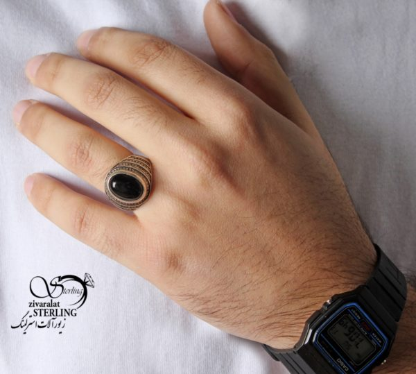انگشتر نقره مردانه ترک کد:۱۴۴۰