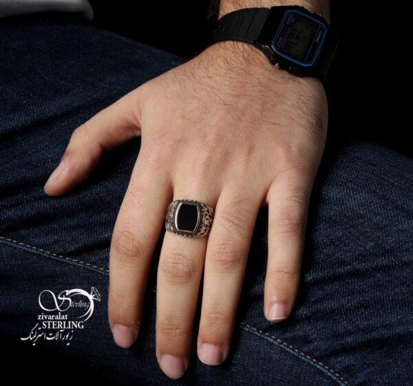 انگشتر نقره ترک مردانه کد:۱۴۲۳