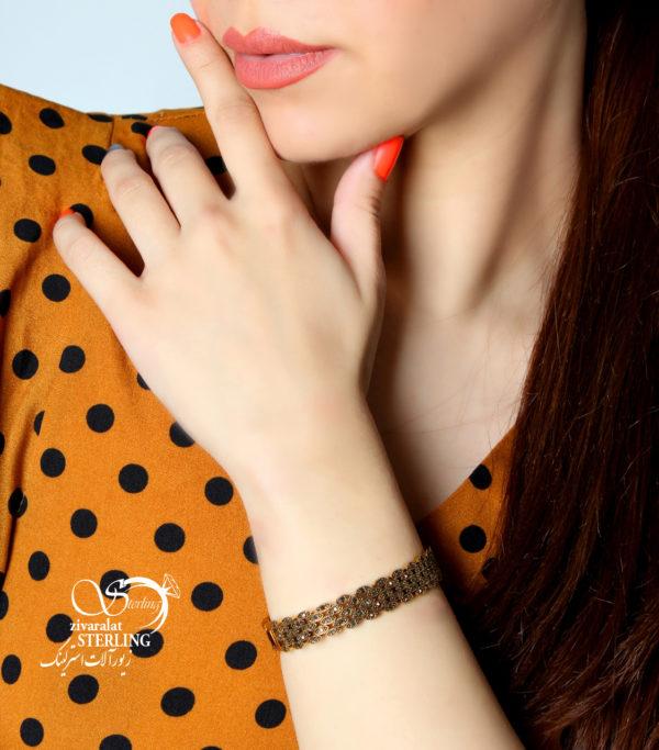دستبند طرح طلاسیاه قلم کد:۲۲۱۴
