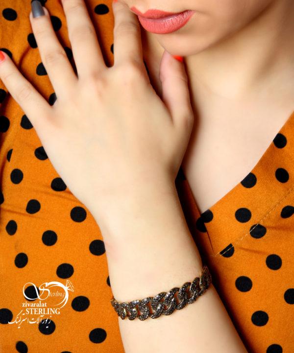 دستبند سیاه قلم النگویی کد:۲۲۱۳