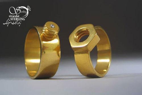 حلقه پیچ و مهره- زیورآلات با طرح های خاص