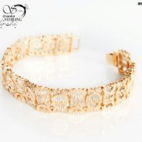 دستبند زنانه برند Xuping تراش دار کد:۲۸۷۵
