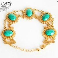 دستبند زنانه گشنیزی طرح طلا کد:۲۸۸۴