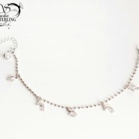 دستبند زنانه برند ژوپینگ با مهره دلفین و قلب کد:۲۹۲۱