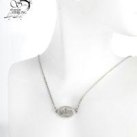 گردنبند نقره زنانه طرح تاج کد:2968