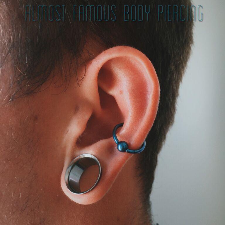 پیرسینگ قسمت بیرونی گوش در  انواع پیرسینگ گوش