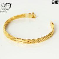 دستبند جلفا طرح طلا کد: 3139