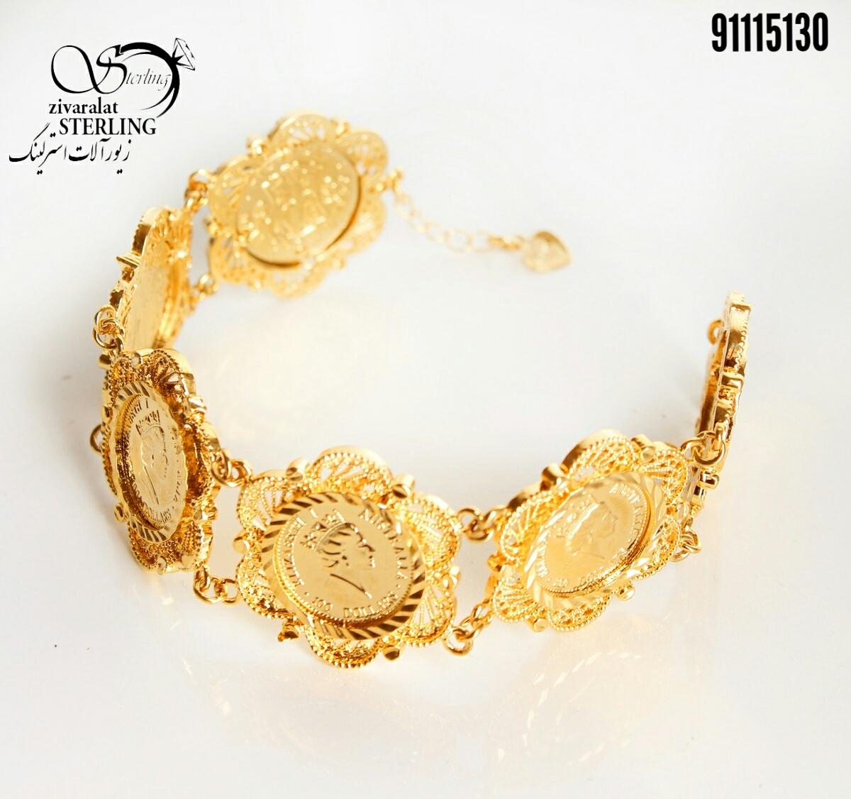 دستبند زنانه طرح طلا کد: 3149