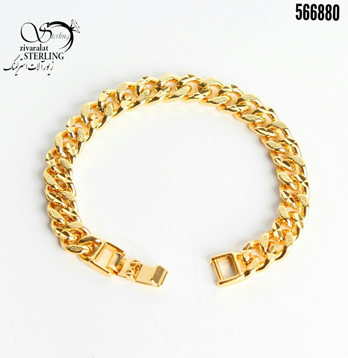 دستبند زنانه طرح طلا کد: 3150