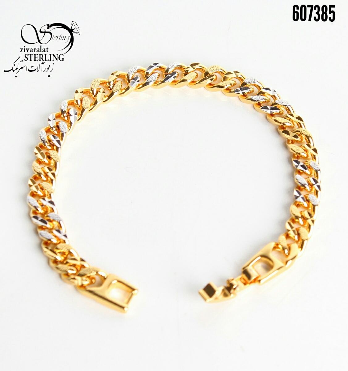 دستبند زنانه طرح طلا کد:3152